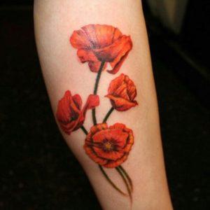 Poppy Flower Tattoos