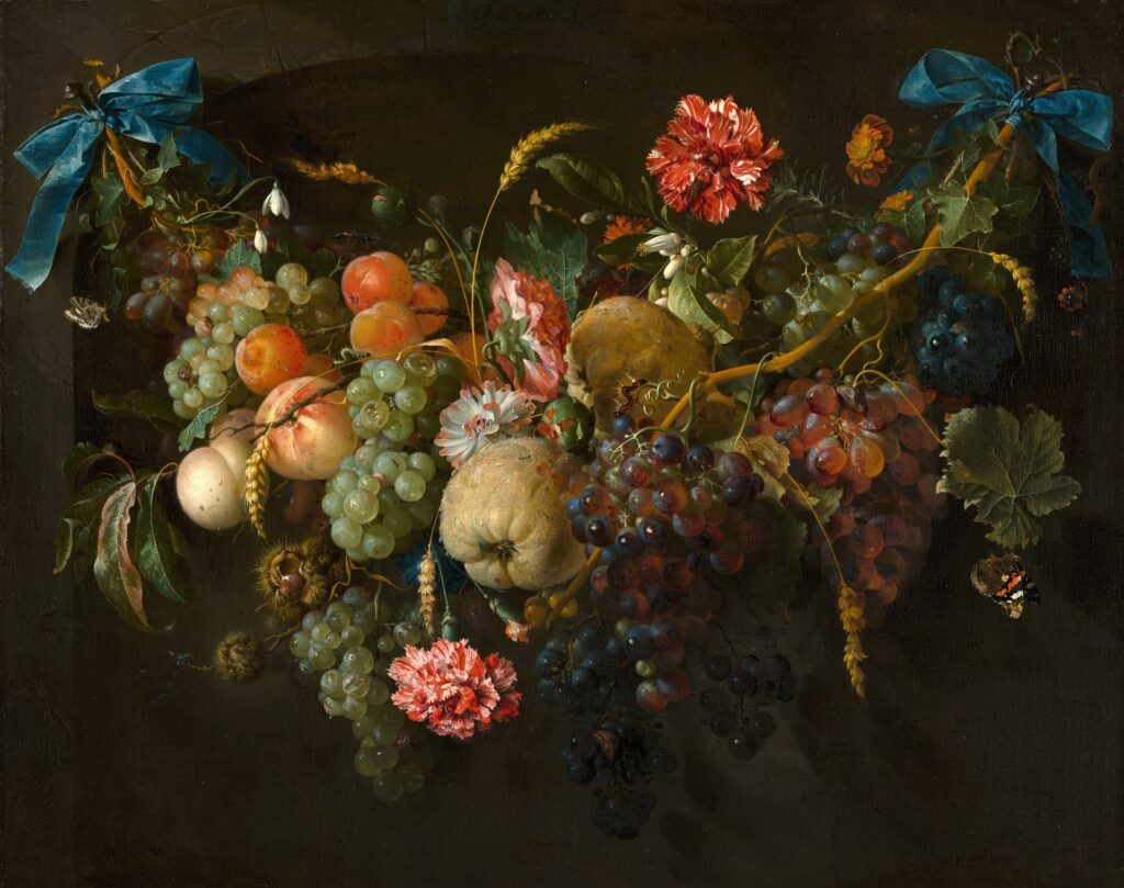 Symbolic meaning of flowers as historical art