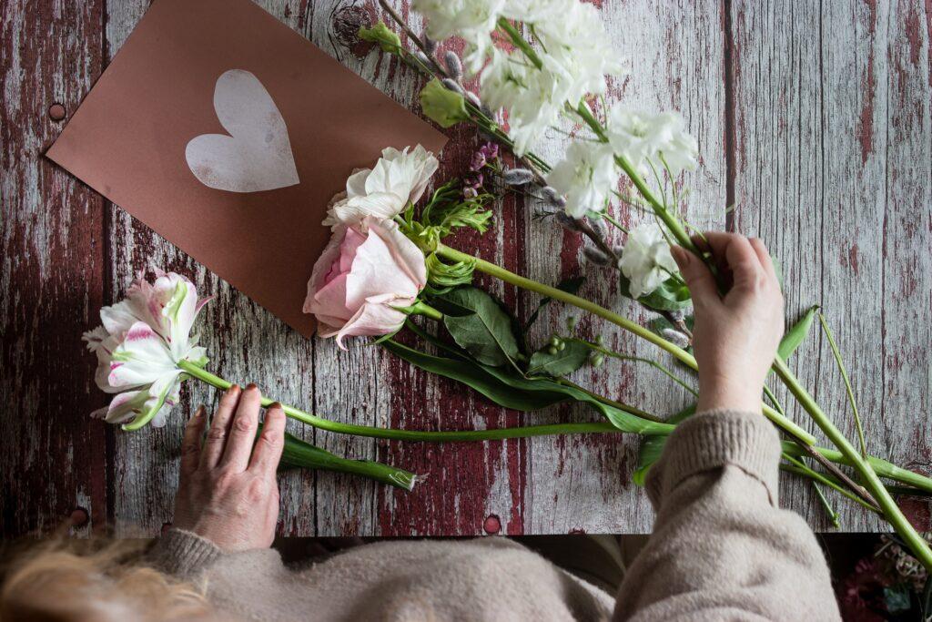 Flowers affecting mental health