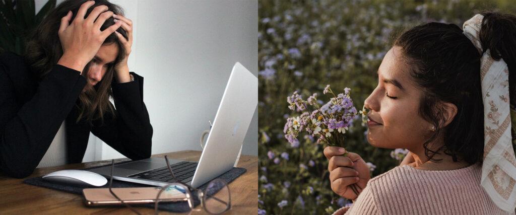 Flowers reduce stress