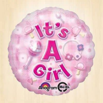 Its a Girl Pink Balloon