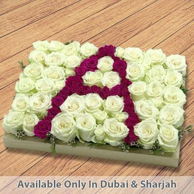 Roses with Letter A